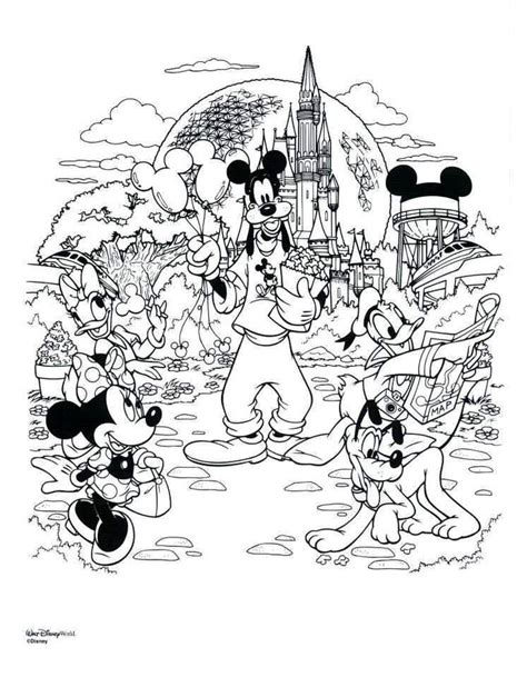 coloring page disneyland 17 best images about disney coloring pages on pinterest