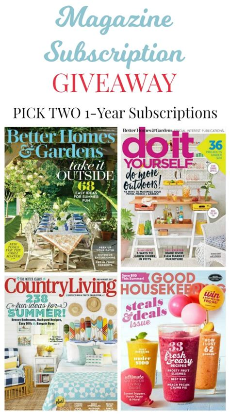 Giveaway Magazine - june giveaway choice of 2 magazine subscriptions knick of time