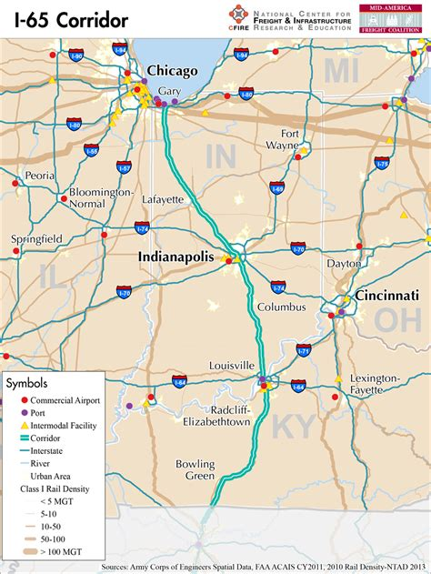 Indiana Find I 65 Indiana Map Indiana Map
