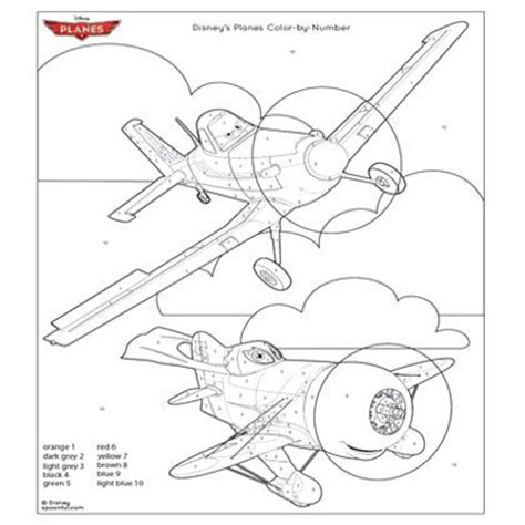 Color By Disney by Disney S Planes Coloring Page Disney Family