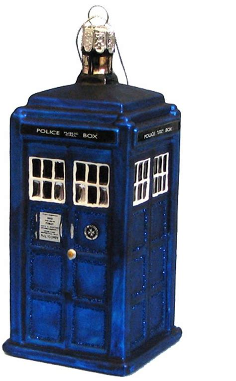 tardis glass christmas ornament at mighty ape nz