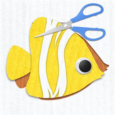 Paper Fish Craft - fishing craft adventure