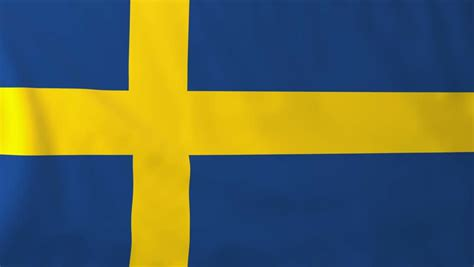 sweden flag colors sweden flag stock footage