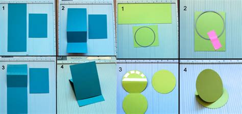 how to make a flip card tutorials for fancy folding cards free guide