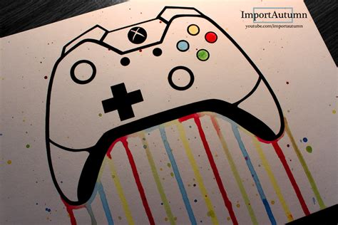 Drawing Xbox by Daily Drawing 3 Xbox One Controller Vlog By