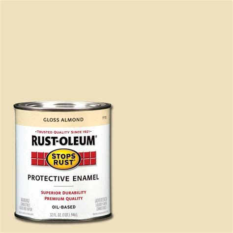 rust oleum stops rust 1 qt gloss almond protective enamel paint of 2 7770502 the home