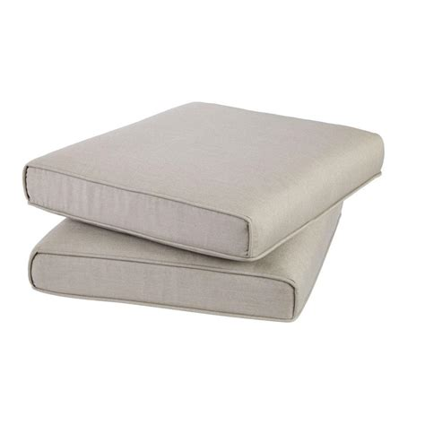 Ottoman Pillows Hton Bay Broadview Sunbrella Spectrum Dove Replacement Outdoor Ottoman Cushion Frs60490f Z
