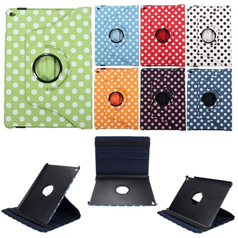 Air Rotate 360 Leather Flip Casing Cover Stand Kulit Kuat dot 360 rotating pu leather flip stand smart for air 2 alex nld