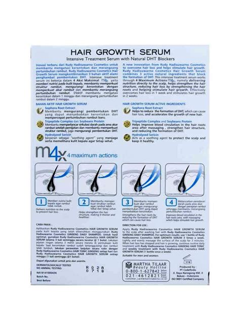 Serum Rudy rudy hadisuwarn hair growth serum box 6x9ml klikindomaret