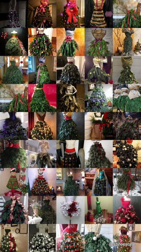 best way to dress a christmas tree fashion inspired dress form tree beesdiy