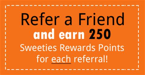 Sweeties Sweepstakes Secret Site - refer a friend