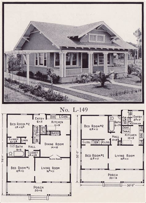 1930s bungalow floor plans 1930s craftsman bungalow house plans house design ideas