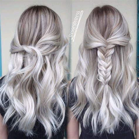 hilites for grey or white hair best 25 grey blonde hair ideas on pinterest