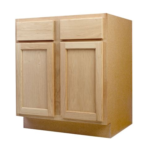 unfinished cabinets shop continental cabinets inc 30 in w x 34 5 in h x 24 in d unfinished oak sink base cabinet