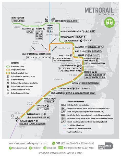 metrorail map official map miami dade metrorail transit maps