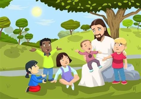 Rainbow Wall Murals jesus love the little children wall mural