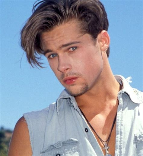 men tuck hair behind ears brad pitt hair 2012 stylish eve young brad pitt hairstyles pompadour swooshed with angled