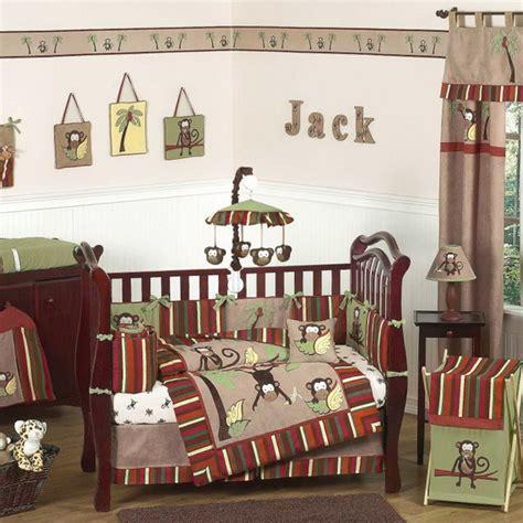 monkey baby crib bedding theme and design ideas