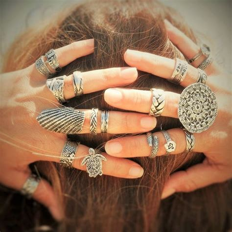 Promo Boho Chic boho chic stacking ring collection by artist use coupon code pin10 to save 10