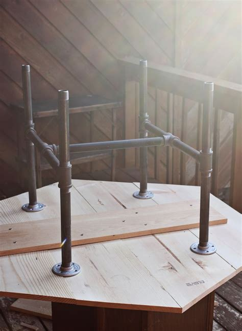 diy table with pvc legs diy honeycomb table with industrial pipe legs a beautiful mess