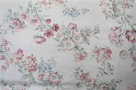 shabby chic barkclothfabric by the shabby chic style floral bouquet decorator fabric drapery upholstery by the yard ebay
