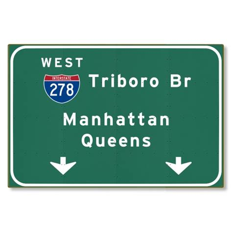 new haggetts highway sign haggetts aluminum triboro bridge i 278 new york city nyc ny metal interstate