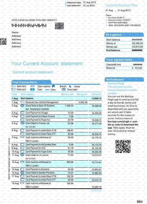 barclays business plan template documents bank statements utility bills