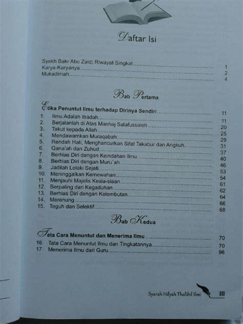 Buku Adab Akhlak Penuntut Ilmu buku syarah hilyah thalibil ilmi akhlak penuntut ilmu