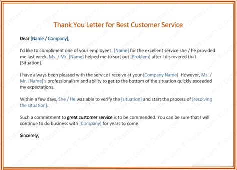 Customer Service Thank You Letter Thank You Letter Customer Khafre