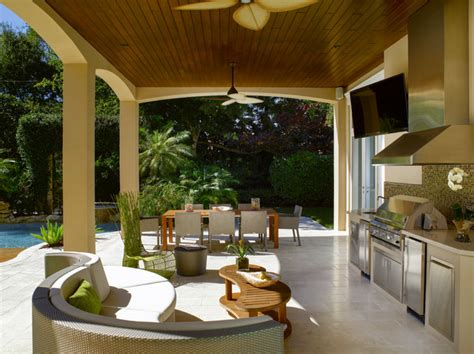 Florida Patio Designs Florida Vernacular Key West Style Home Contemporary Patio Miami By Hollub Homes