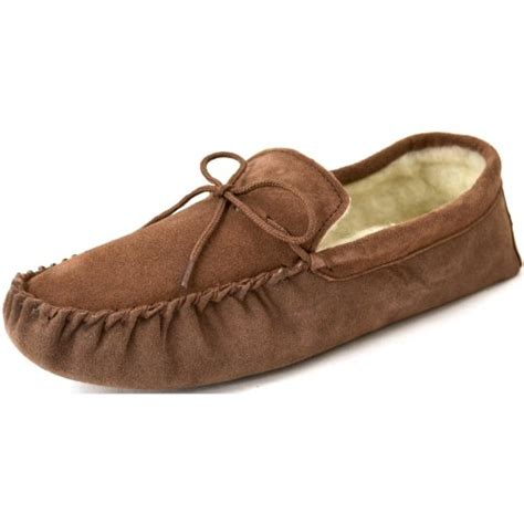 mens moccasin slippers soft sole snugrugs s suede sheepskin moccasin slippers with soft