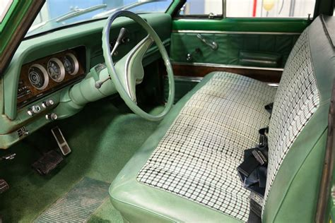 1970 jeep wagoneer interior 1973 jeep wagoneer 4x4 quadra trac fairway green