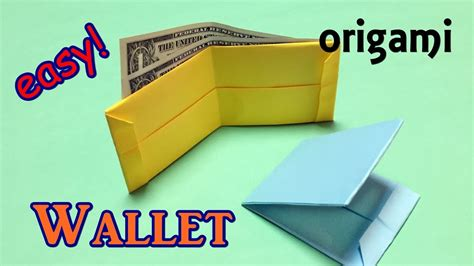 How To Make A Cool Paper Wallet - origami easy for beginners but cool how to make a paper