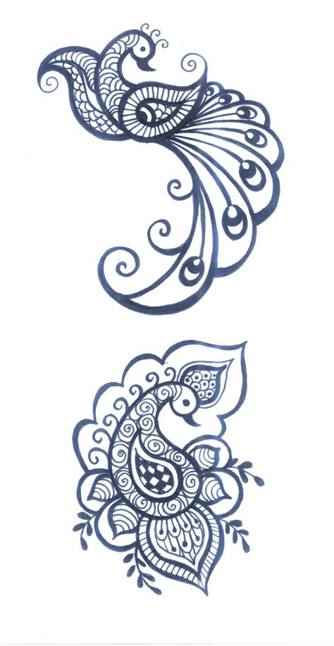 henna clipart peacock clipart henna pencil and in color peacock