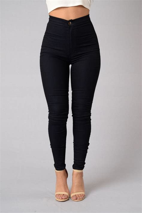 Hw Highwaist High Waist Denim Skinnies Indigo Jeggings