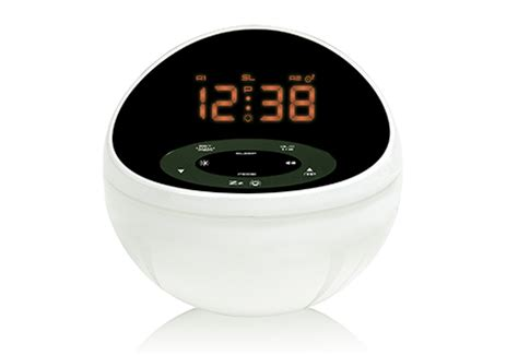 soothing sounds alarm clock with color display sharper image