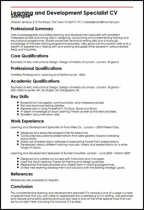 learning and development specialist cv sample myperfectcv - Math Tutor Resume