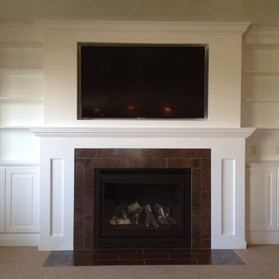 Fireplace Surround Ideas With Tv by Salt Lake City Home Tv Above Fireplace Design Pictures