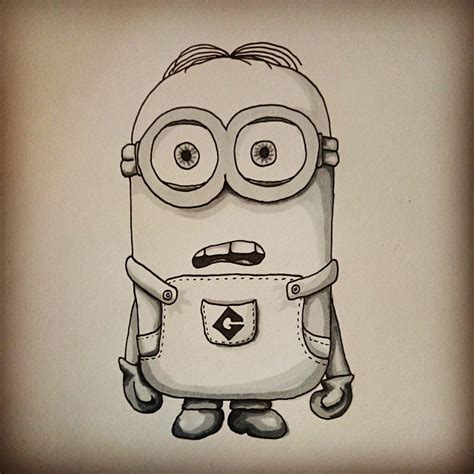 Pensil Minion how to draw dave the minion by frozenark on deviantart