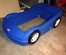 Toddler Race Car Bed Blue Tikes Bed Ebay