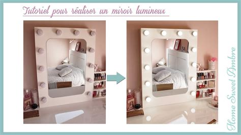 Miroir Lumineux Pour Coiffeuse 4814 by Diy Miroir Lumineux Maquillage Pro Vanity Mirror With