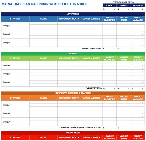 corporate marketing plan template 9 free marketing calendar templates for excel smartsheet