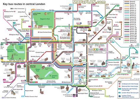 printable street map of london city centre london top tourist attractions map key bus routes by