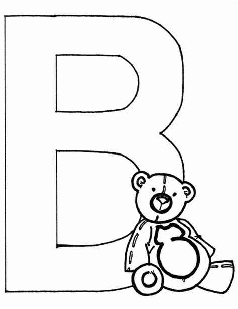 coloring page for letter b coloring pages letter b
