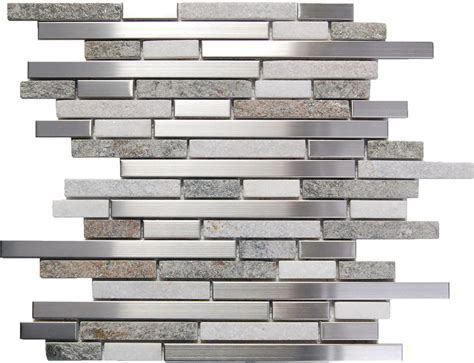 sle stainless steel white gray mosaic tile