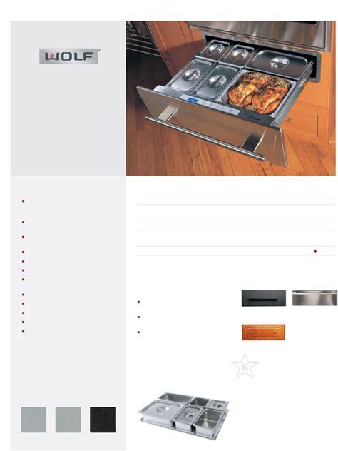 Wolf Warming Drawer Wwd30 by Wolf Food Warmer Wwd30 User Guide Manualsonline