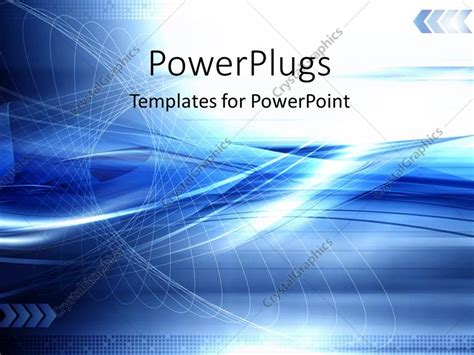 Powerpoint Template Blue Abstract Technology Modern Background With Network 13265 Technology Templates