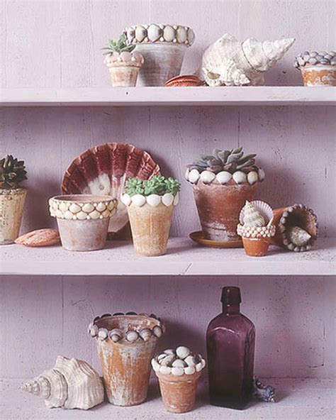 craft projects with shells shell crafts martha stewart