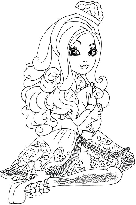 coloring pages of apple white free printable ever after high coloring pages free