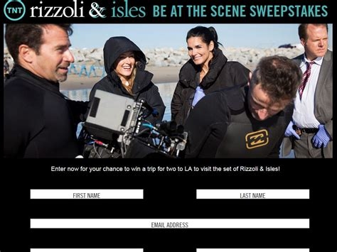Tnt Sweepstakes - tnt and rizzoli isles be at the scene sweepstakes